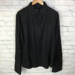 Guess Collared Button Up Black Dress Shirt XXL